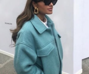 fashion, coat, and hair image
