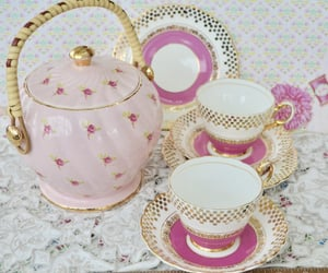 aesthetic, tea party, and teacup image