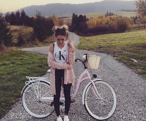 girl, bicycle, and fashion image