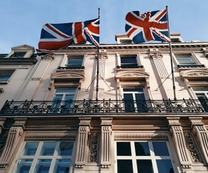 architecture, british, and flag image