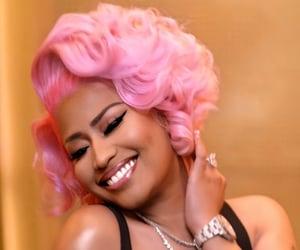 pink hair, nice to meet ya, and smile image