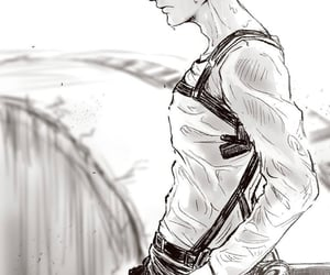 aesthetics, black and white, and attack on titan image
