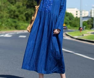 blue dress, etsy, and prom dress image