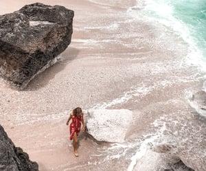 bali, beach, and blonde image