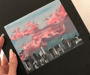 acrylic, cloudy, and art image