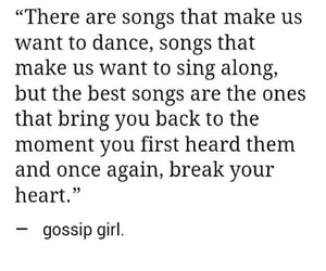 gossip girl, quotes, and song image