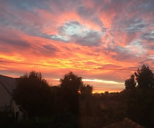 ciel, coucher, and nature image