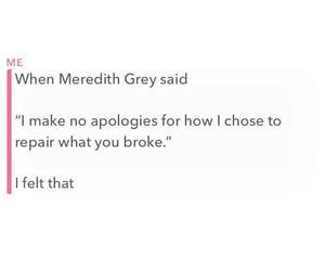 amazing, hurt, and meredith grey image