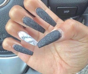 grey, glitter, and marble image