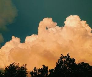 cloud, dusk, and orange image