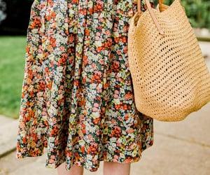 floral dress, j crew, and liberty image