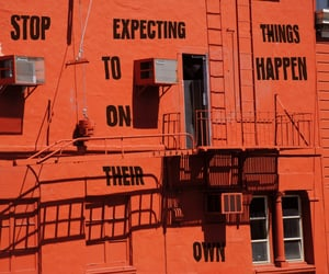 quotes, orange, and art image