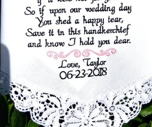 embroidered, wedding gift, and mother in law image
