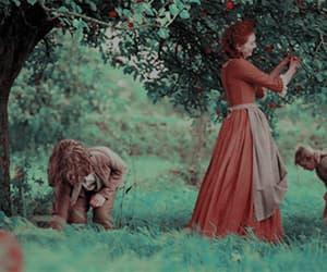 apple tree, gif, and poldark image
