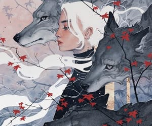art, illustration, and wolf image