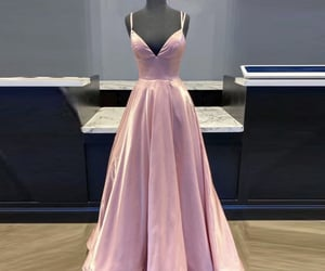 pink dress, prom dress, and simple dress image