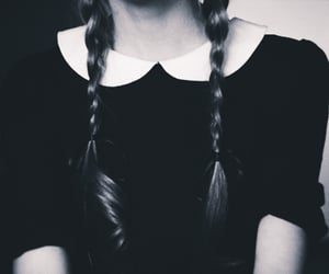 aesthetic, gothic, and wednesday addams image