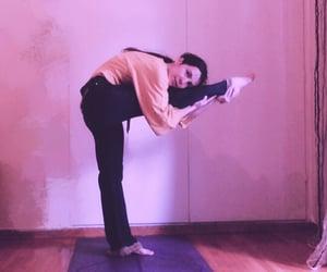 cosmos, yoga, and girl image
