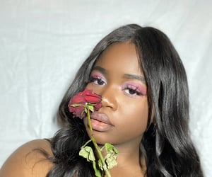 aesthetic, hairstyle, and rose image