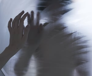 blurred, dark, and emotive image