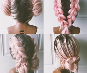 beauty, pastel pink hair, and ombre image