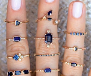 blue, rings, and accessories image