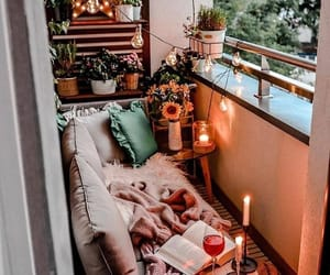 home, balcony, and cozy image