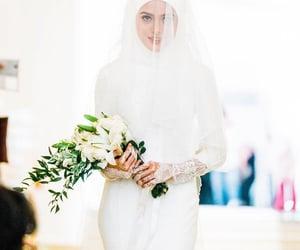 bridal fashion, chiffon, and lace image
