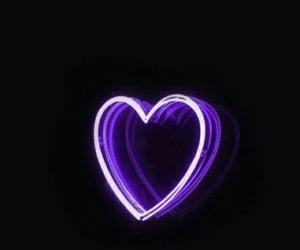 wallpaper, neon, and heart image