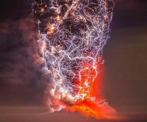 eruption, tumblr, and volcanic eruption image