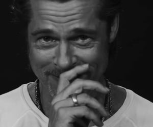 black and white, brad pitt, and hollywood image