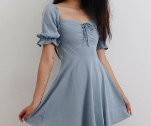blue, blue dress, and clothes image