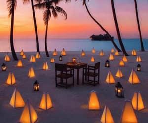 beach, summer, and lights image