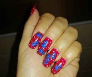 nails, art nails, and natural nails image