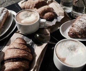 biscuit, cafe, and cappuccino image