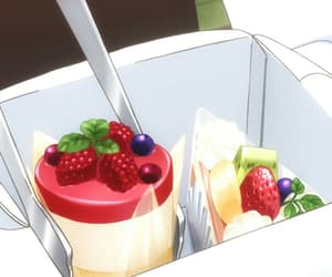 cake, pudding, and FRUiTS image