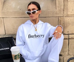 Burberry and sweatpants image