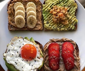 breakfast, healthy, and toast image