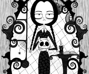 addams family, spooky, and wednesday addams image