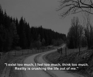 quotes, black and white, and depression image