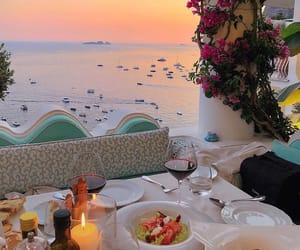 beach, dinner, and getaway image