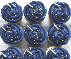 blue, cupcakes, and cupcake image