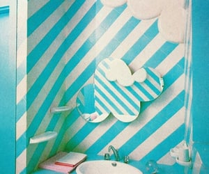 70s, decor, and striped image