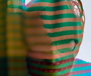 photography, portrait, and stripes image