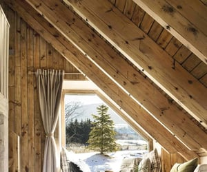 cabin, home design, and log cabin image