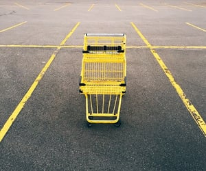 cart, parking lot, and pavement image