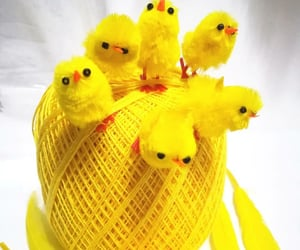 chicks, yellow, and easter image