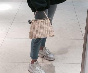 bag, blue, and denim image