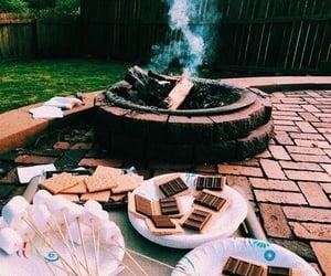 bonfire, outside, and candy image