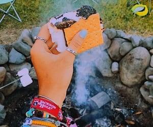 arm, bonfire, and outside image